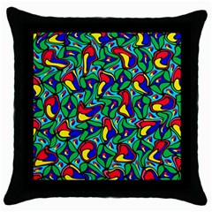 Colorful 4 1 Throw Pillow Case (black)