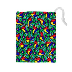 Colorful 4 1 Drawstring Pouches (large)