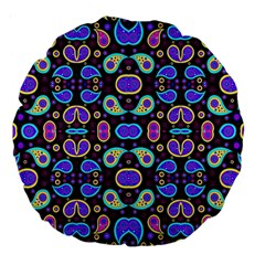 Colorful 5 Large 18  Premium Flano Round Cushions
