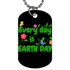 Earth Day Dog Tag (one Side)