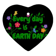 Earth Day Heart Ornament (two Sides)