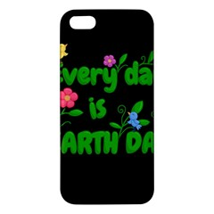 Earth Day Apple Iphone 5 Premium Hardshell Case