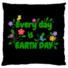 Earth Day Standard Flano Cushion Case (one Side)