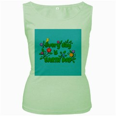 Earth Day Women s Green Tank Top