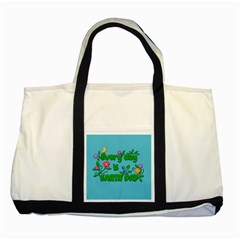 Earth Day Two Tone Tote Bag