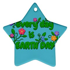 Earth Day Star Ornament (two Sides)
