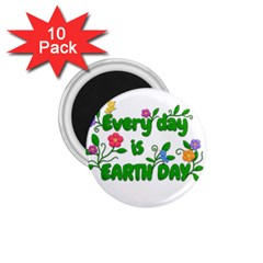 Earth Day 1 75  Magnets (10 Pack)