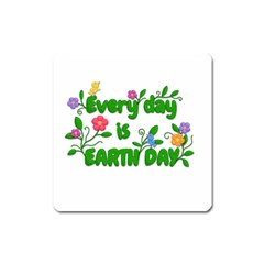 Earth Day Square Magnet