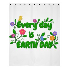 Earth Day Shower Curtain 60  X 72  (medium)