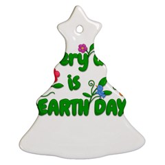 Earth Day Christmas Tree Ornament (two Sides)