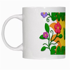 Earth Day White Mugs