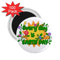 Earth Day 2 25  Magnets (100 Pack)