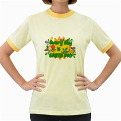 Earth Day Women s Fitted Ringer T Shirts
