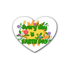 Earth Day Heart Coaster (4 Pack)
