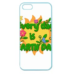 Earth Day Apple Seamless Iphone 5 Case (color)