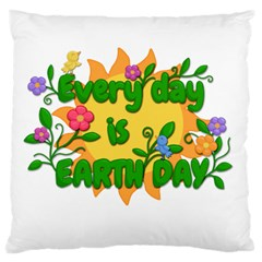 Earth Day Large Cushion Case (two Sides)