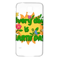Earth Day Samsung Galaxy S5 Back Case (white)
