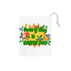 Earth Day Drawstring Pouches (small)