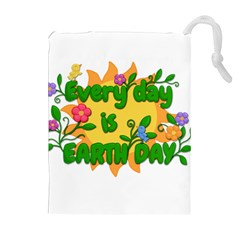 Earth Day Drawstring Pouches (extra Large)