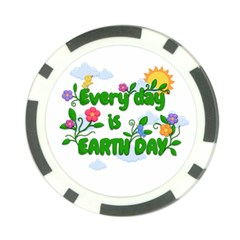 Earth Day Poker Chip Card Guard (10 Pack)