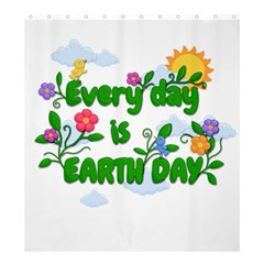 Earth Day Shower Curtain 66  X 72  (large)