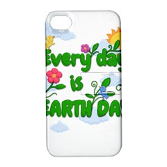 Earth Day Apple Iphone 4/4s Hardshell Case With Stand