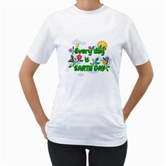 Earth Day Women s T Shirt (white) (two Sided)