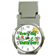 Earth Day Money Clip Watches