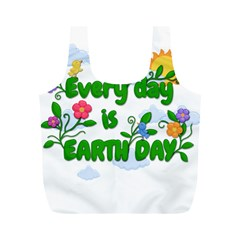 Earth Day Full Print Recycle Bags (m)