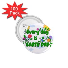 Earth Day 1 75  Buttons (100 Pack)
