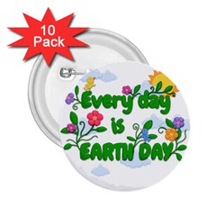 Earth Day 2 25  Buttons (10 Pack)