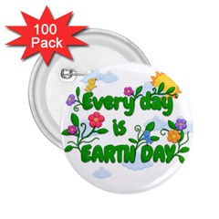 Earth Day 2 25  Buttons (100 Pack)