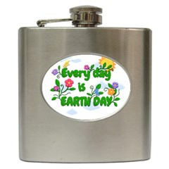Earth Day Hip Flask (6 Oz)
