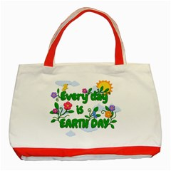 Earth Day Classic Tote Bag (red)