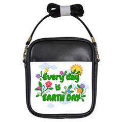 Earth Day Girls Sling Bags