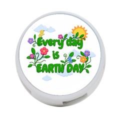 Earth Day 4 Port Usb Hub (one Side)