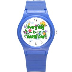 Earth Day Round Plastic Sport Watch (s)