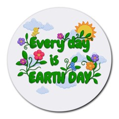 Earth Day Round Mousepads