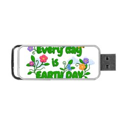 Earth Day Portable Usb Flash (one Side)