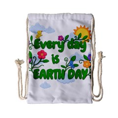 Earth Day Drawstring Bag (small)