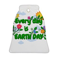 Earth Day Bell Ornament (two Sides)