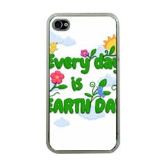 Earth Day Apple Iphone 4 Case (clear)