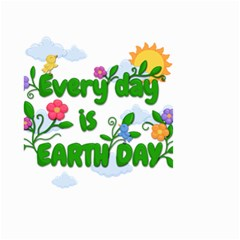 Earth Day Small Garden Flag (two Sides)