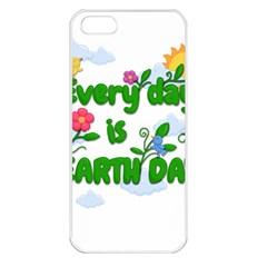 Earth Day Apple Iphone 5 Seamless Case (white)