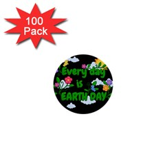 Earth Day 1  Mini Buttons (100 Pack)