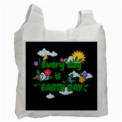 Earth Day Recycle Bag (one Side)