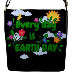 Earth Day Flap Messenger Bag (s)