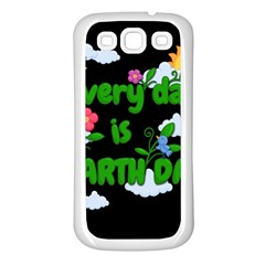 Earth Day Samsung Galaxy S3 Back Case (white)