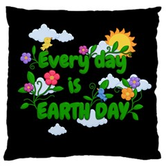 Earth Day Standard Flano Cushion Case (two Sides)