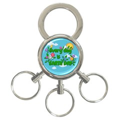 Earth Day 3 Ring Key Chains